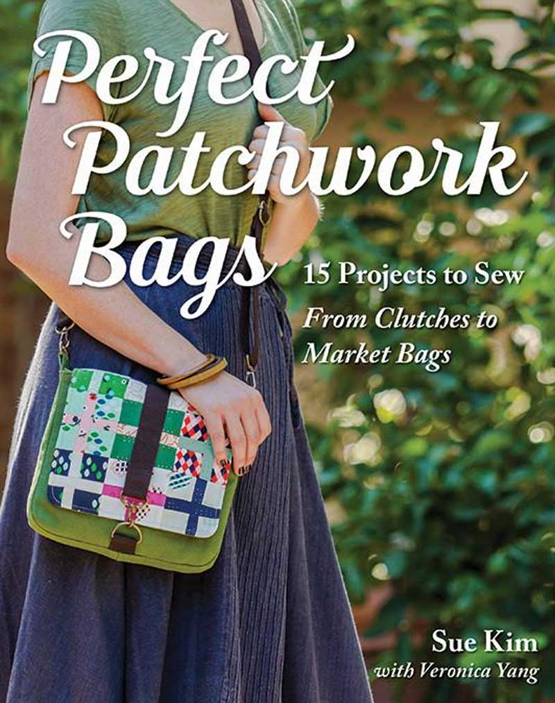 Choose from 15 modern quilted bags with easy to sew patchwork designs.