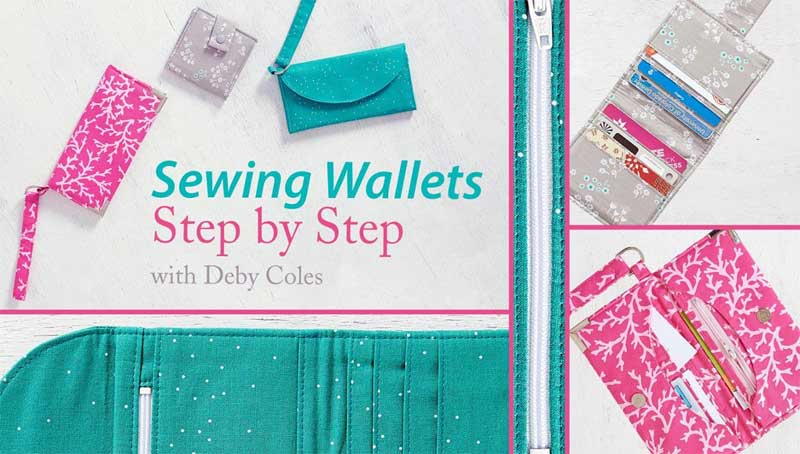 Learn to sew durable, professional-looking wallets
