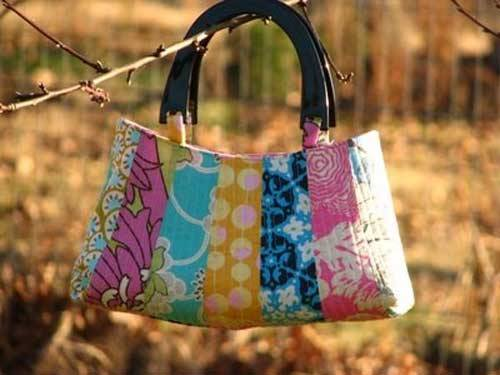 Dresden Petal Handbag - Free Sewing Pattern by Quality Time