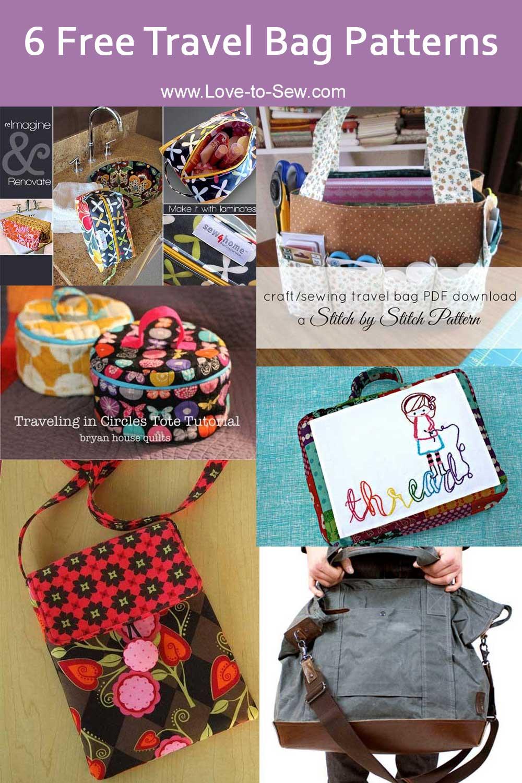 6 Free Travel Bag Patterns
