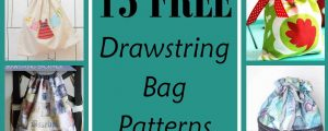 15 Free Drawstring Bag Patterns