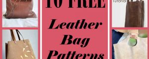 10 Free Leather Bag Patterns