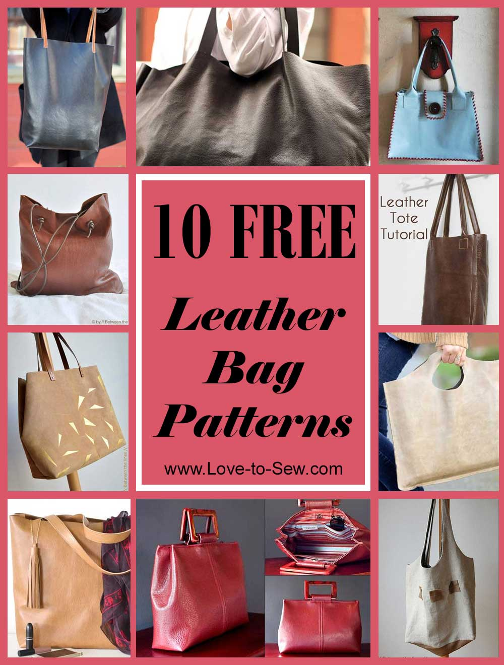 12 Free Leather Bag Patterns