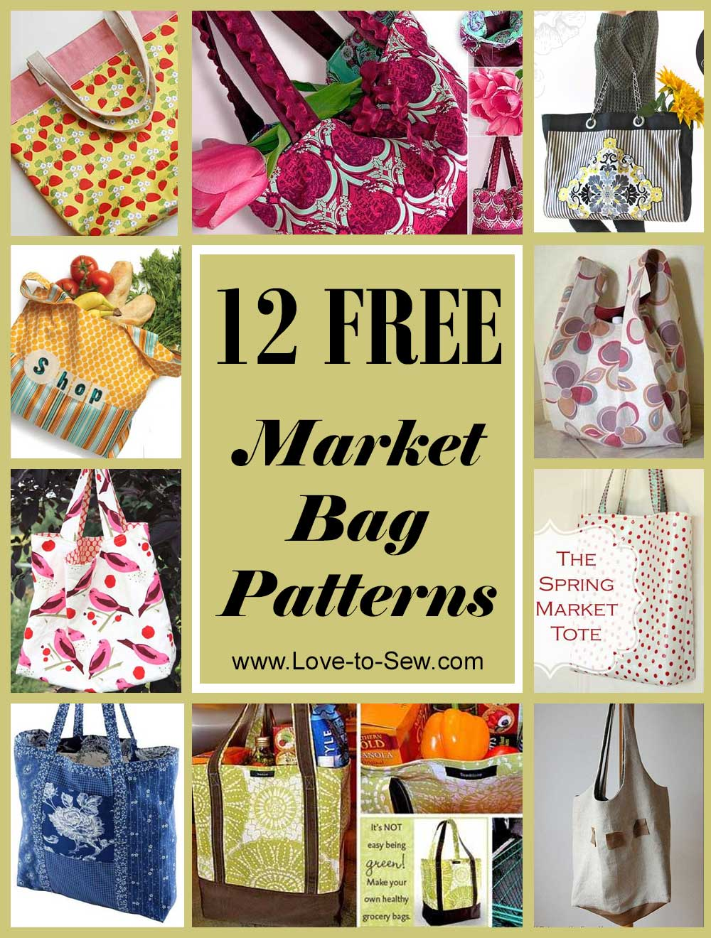 15 Free Market Bag Patterns