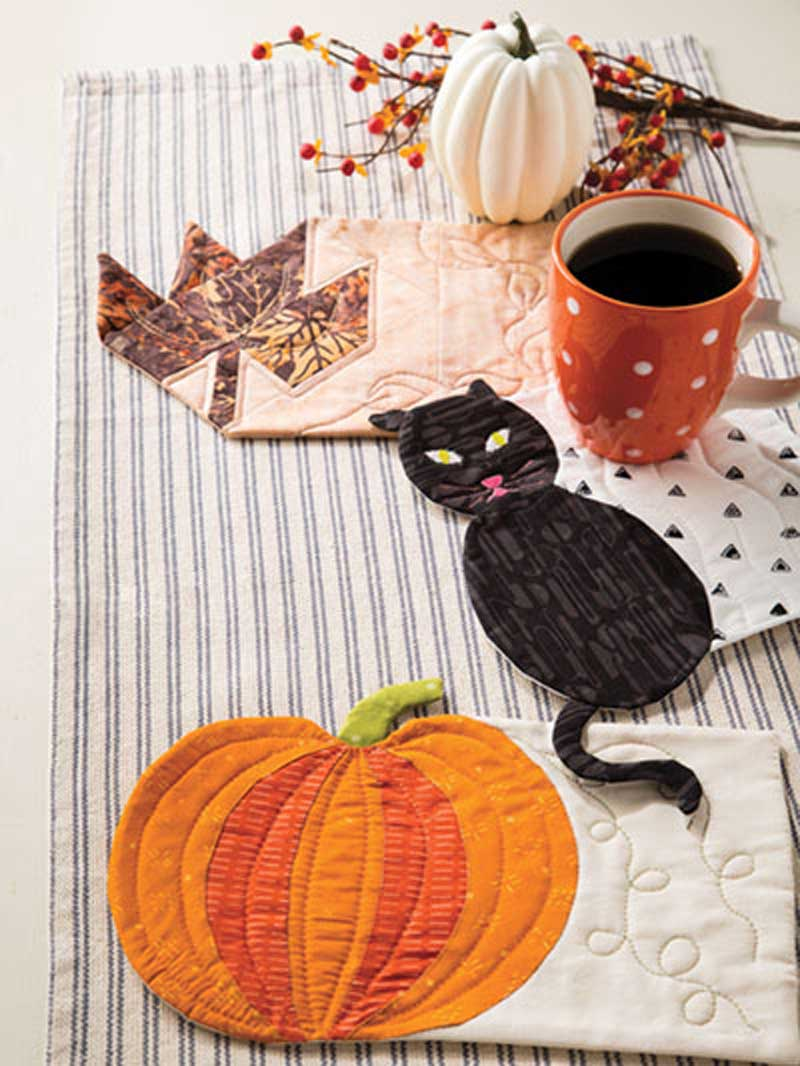 These Autumn Mug Rugs are the perfect way to get ready for the autumn season.
