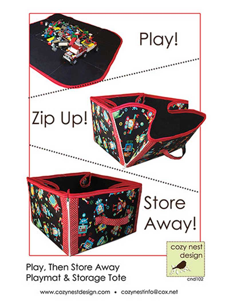 Make toy clean-up fast, fun and easy with this 2-in-1 play mat and storage tote.