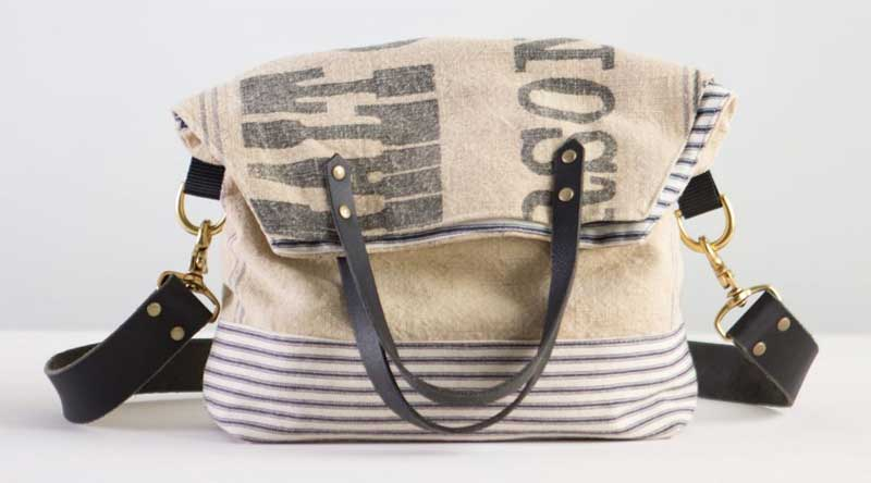 Learn how to design and sew a versatile vintage-style tote.
