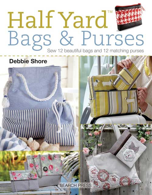 Sew 12 beautiful bags and 12 matching purses using no more than half a yard of fabric