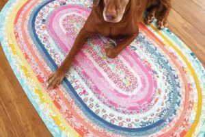 Jelly Roll Rug Sewing Pattern