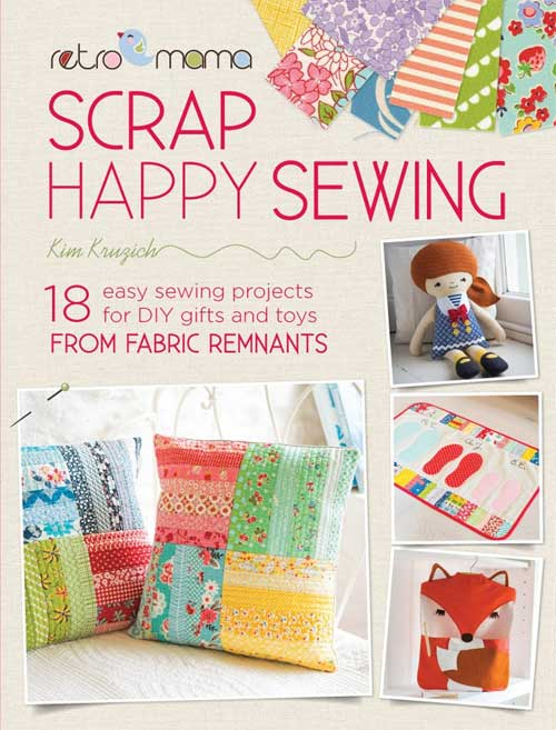 The 18 adorable handmade projects in Scrap Happy Sewing include bags, cushions and pillows, quilts, and more.