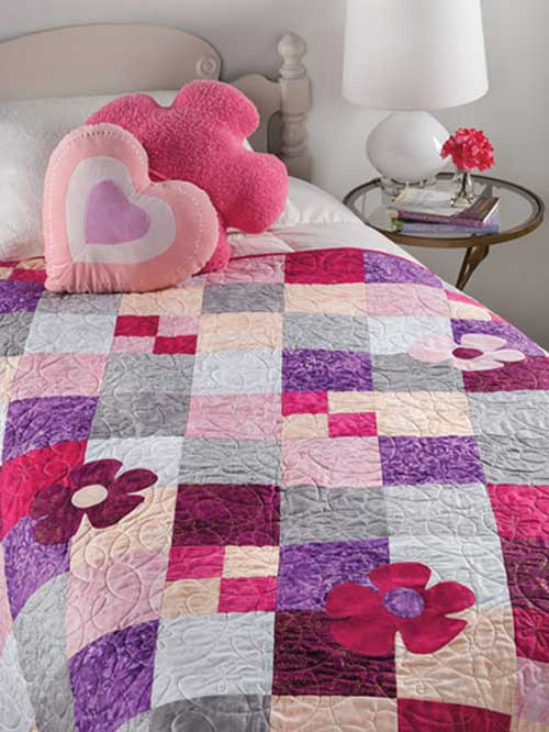 Showcase your favorite colors in this fun and easy quilting project.