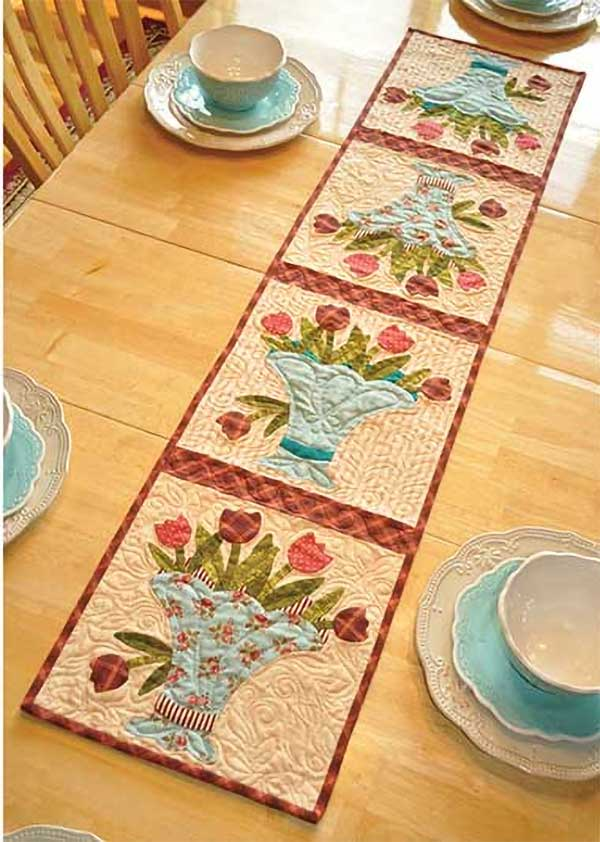 Decorate your home for spring with this pretty table runner.