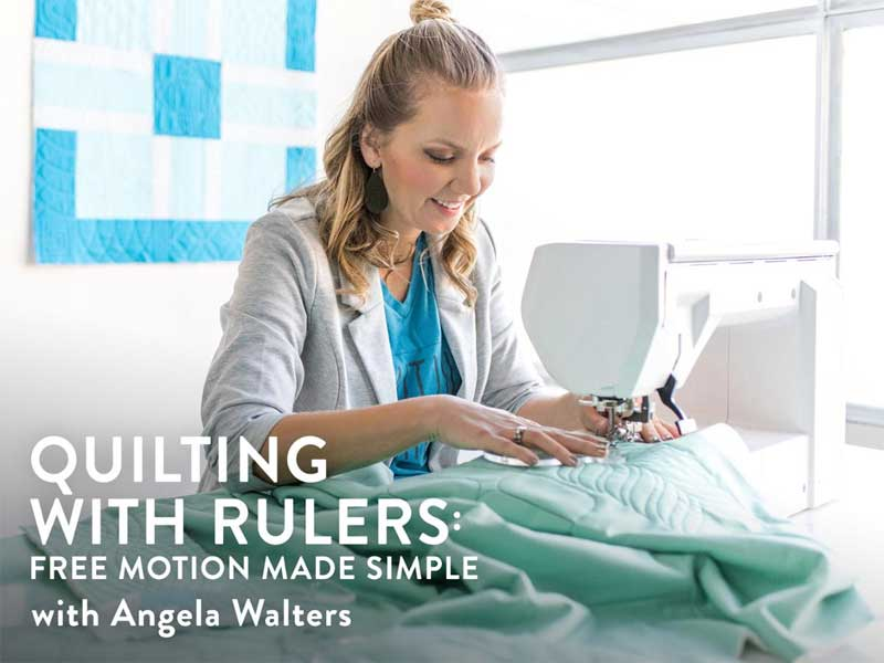 Quilting with Rulers: Free Motion Made Simple Online Class