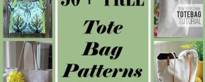 50+ Free Tote Bag Patterns