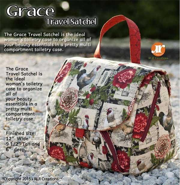 Grace Travel Satchel Toiletry Bag Pattern