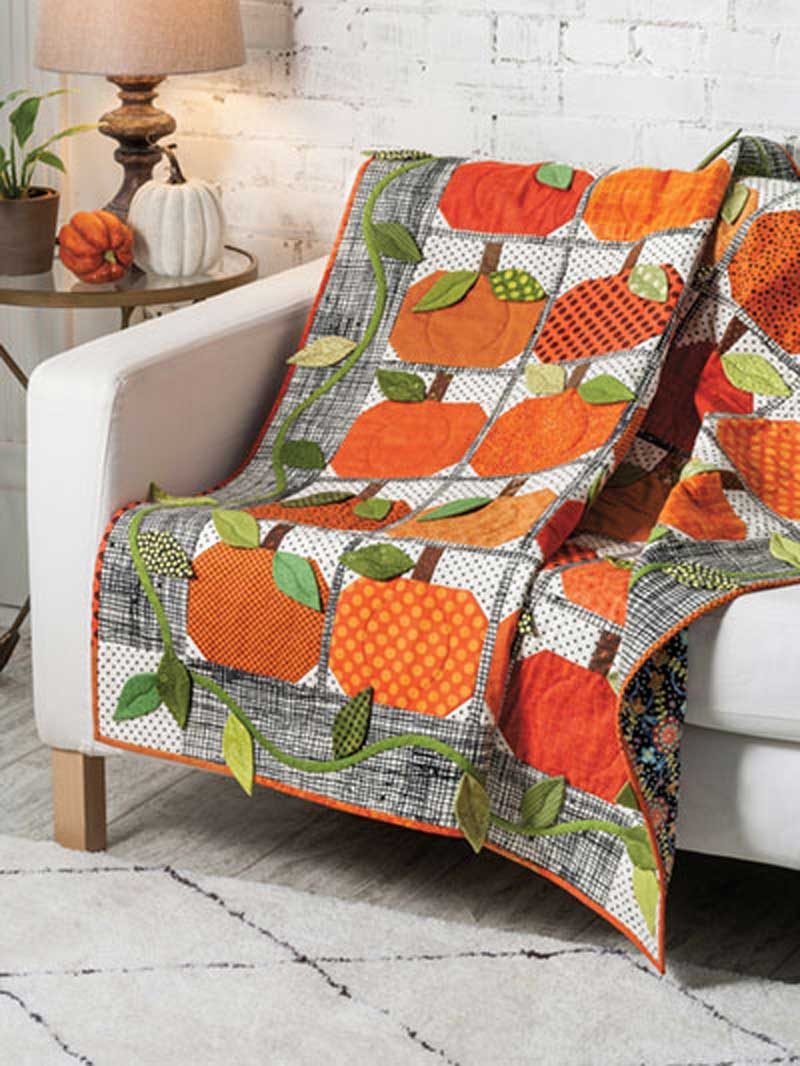 This quilt is the perfect throw for Autumn.