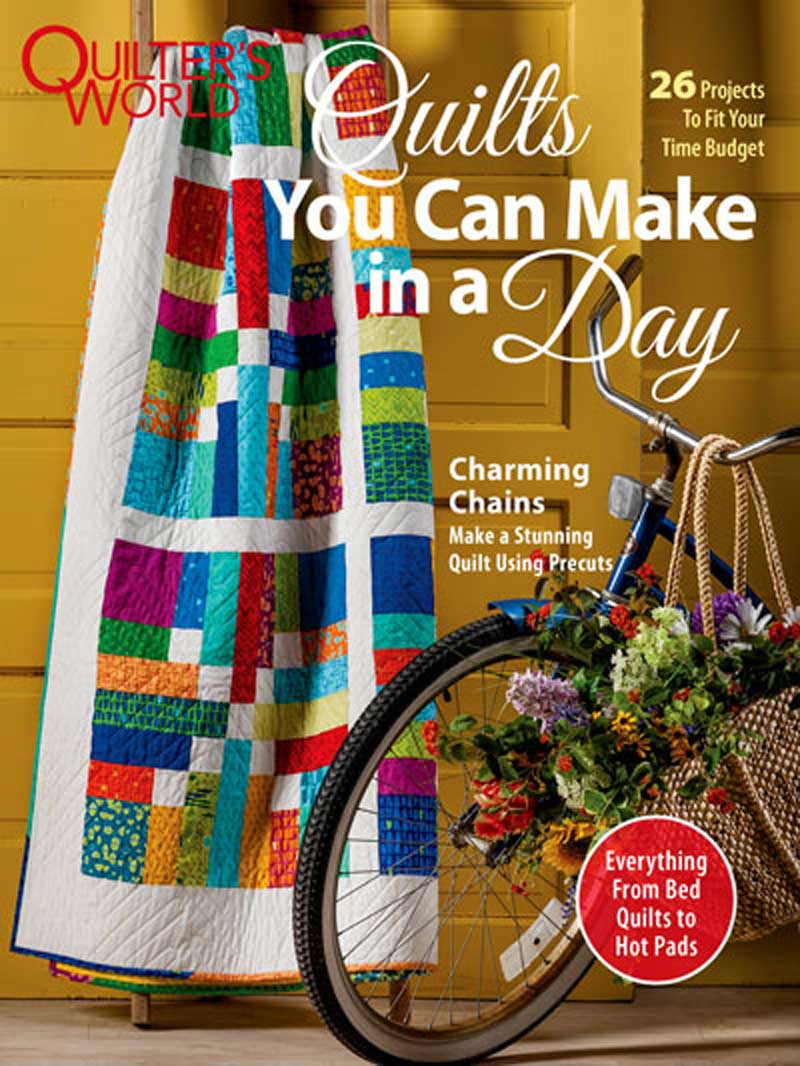 Create stunning quilts in no time at all.