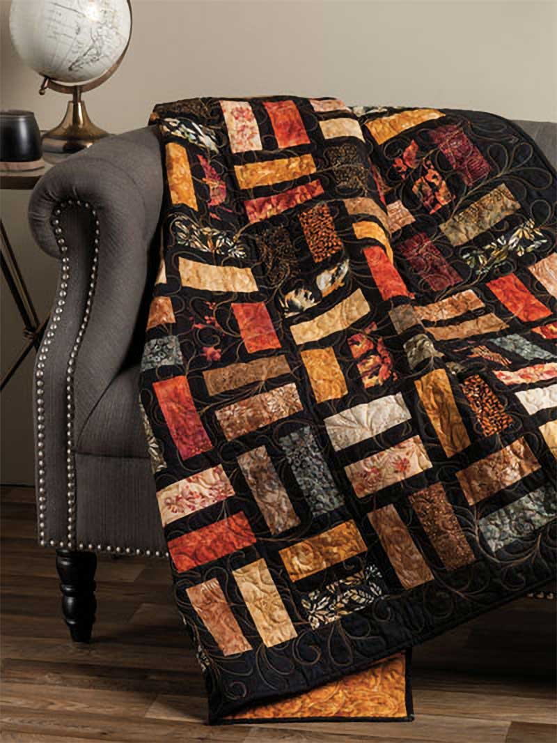 Make this quilt using leftover fabric scraps.
