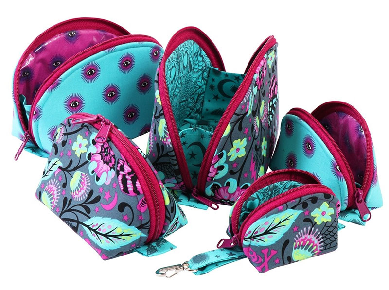 Carry your accessories in style with these zippered pouches.