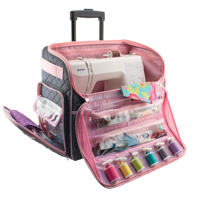 Rolling Sewing Machine Tote