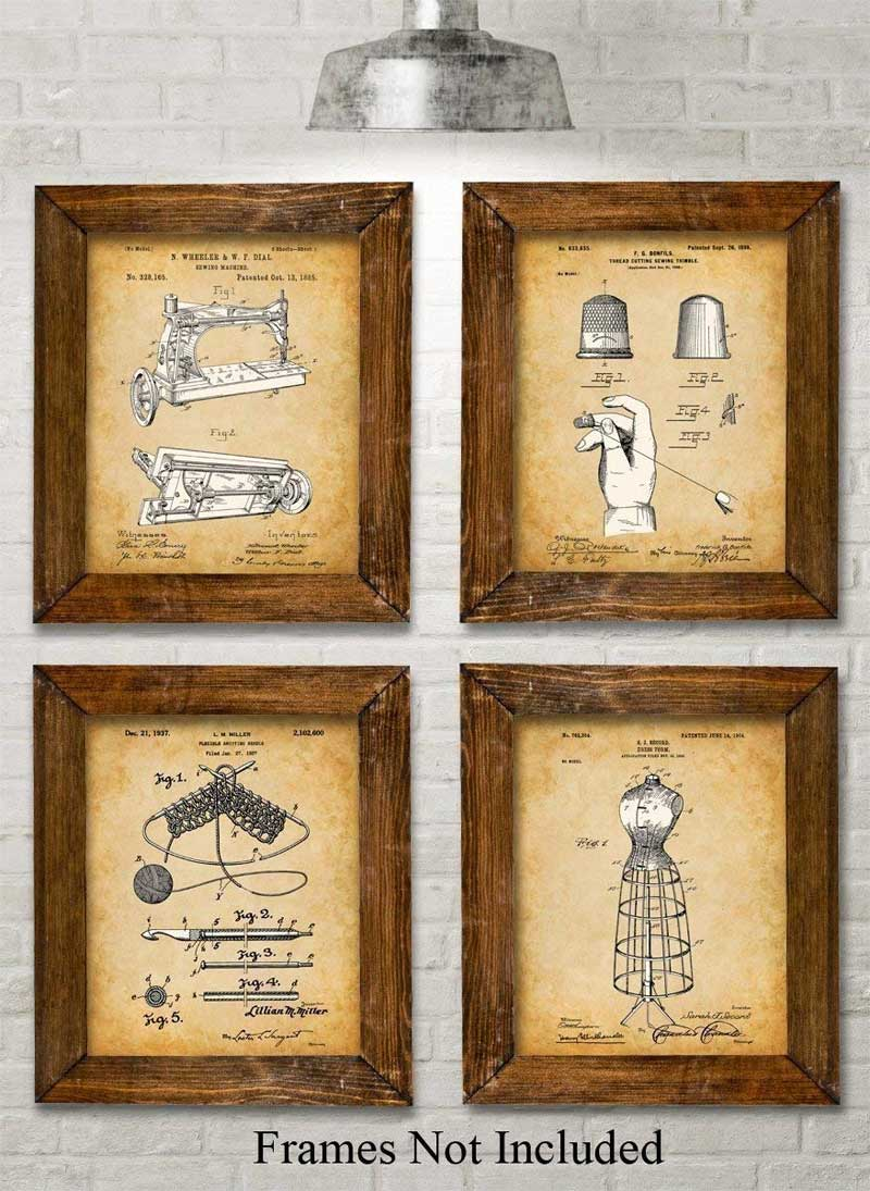 Sewing Patent Art Prints