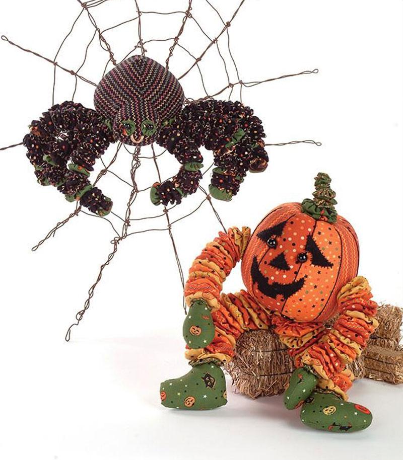 Yo-Yo Halloween Stuffed Spider & Pumpkin Sewing Pattern