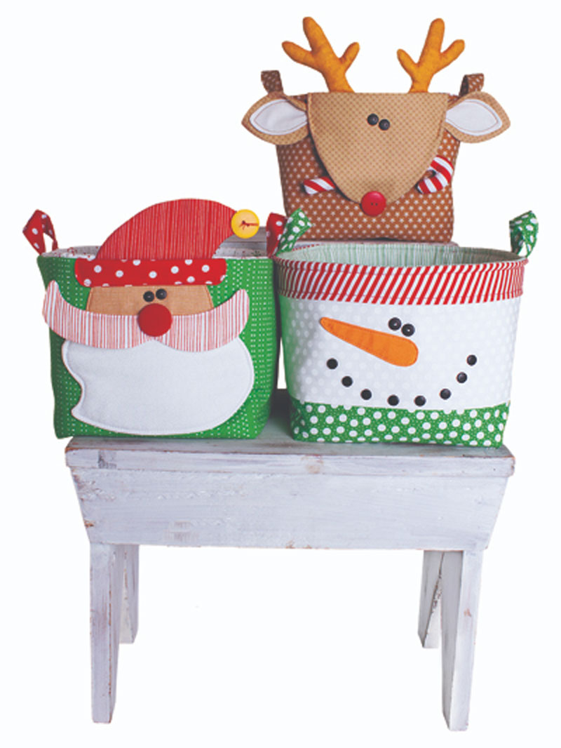 Handy Baskets for the Holidays Sewing Pattern