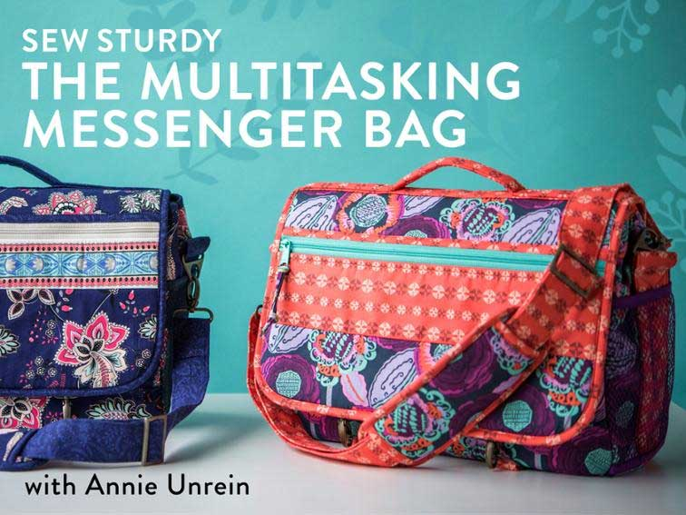Sew Sturdy: The Multitasking Messenger Bag Online Sewing Class
