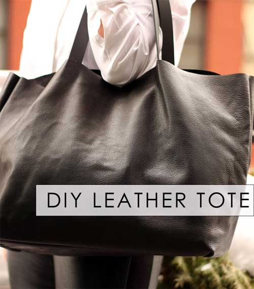 DIY Celine Inspired Leather Tote