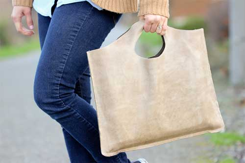 Four Step Leather Tote