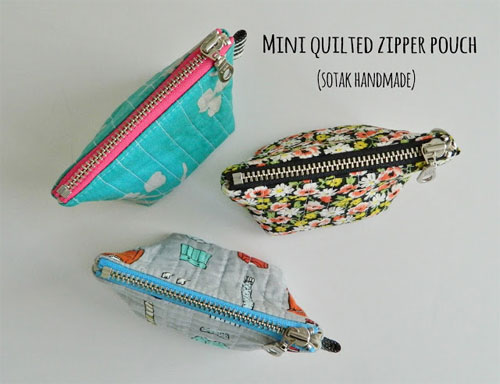 Mini Quilted Zipper Pouch