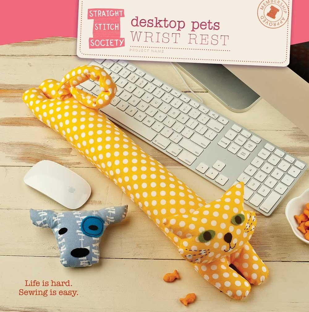 These cute animals lie quietly at the base of your keyboard and will give your hands extra support while you type