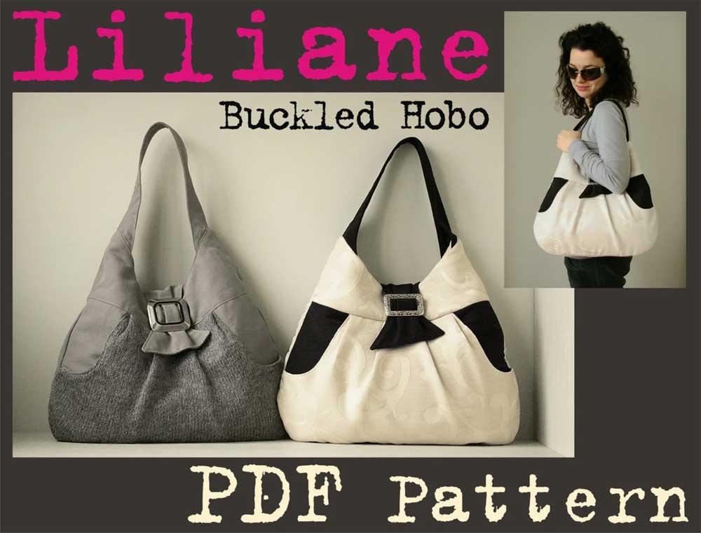 Liliane Buckled Hobo Bag Sewing Pattern