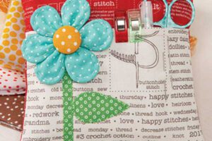 Flower Pocket Pincushion Sewing Pattern