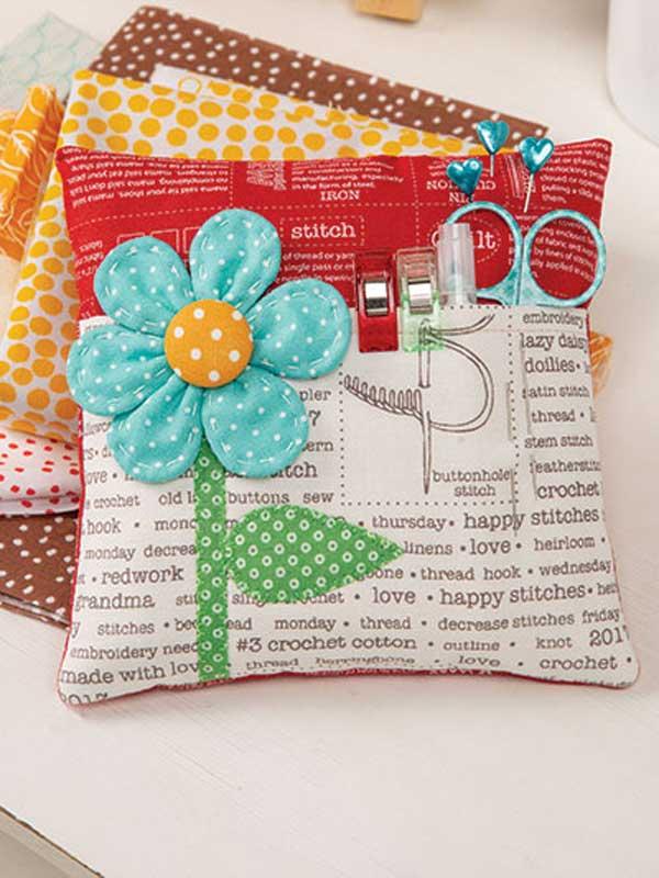 Flower Pocket Pincushion Sewing Pattern