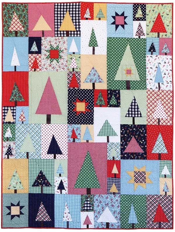 Pine Hollow Patchwork Forest Quilt Pattern