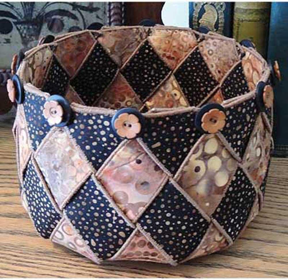 Woven Spirals Bowl Sewing Pattern