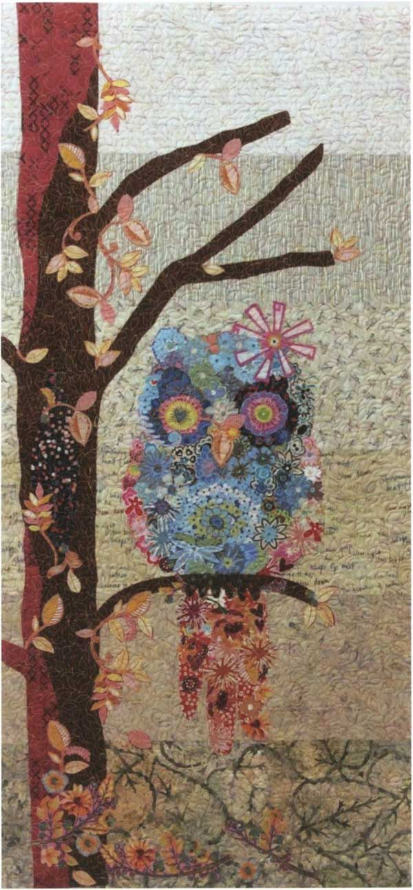 Cora the Common Owl Collage Quilting Pattern