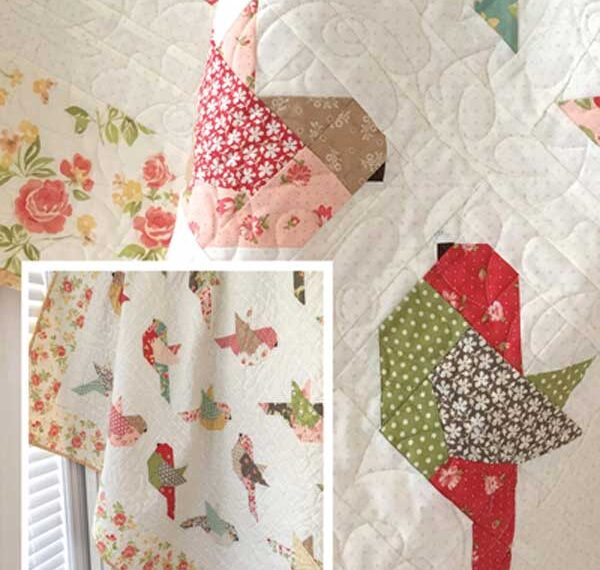 Feathers Pieced Quilt Pattern