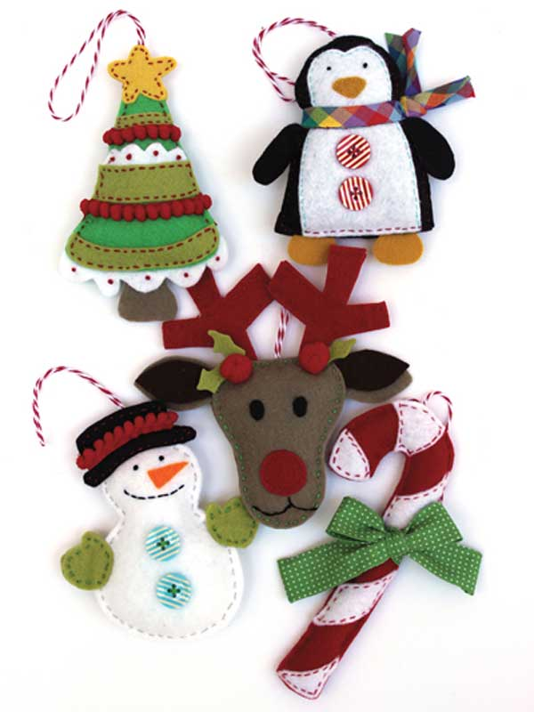 Felt Holiday Ornaments Sewing Pattern