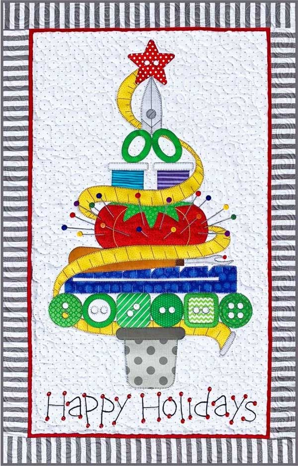 Holiday Sewing Tree Wall Hanging Pattern