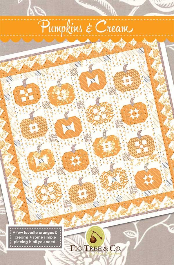 Pumpkins and Cream Quilt Pattern