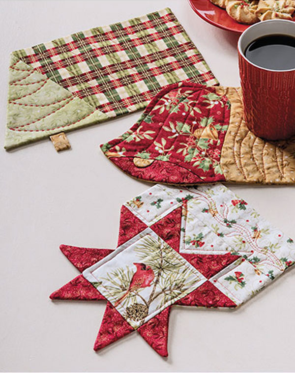 Christmas Mug Rug Set Pattern