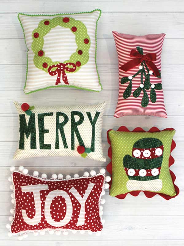 Mini Holiday Pillows Sewing Pattern