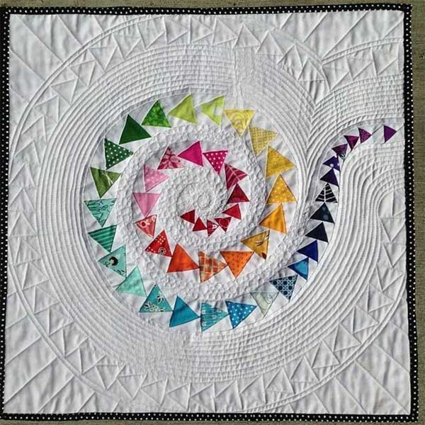 Spiral Geese Mini Quilt Pattern