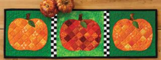 Pumpkin Patchwork Accent Table Runner Sewing Pattern