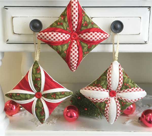 Cathedral Window Ornaments Sewing Pattern