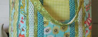 Quilt As You Go Insulated Tote with Pre-Printed Batting