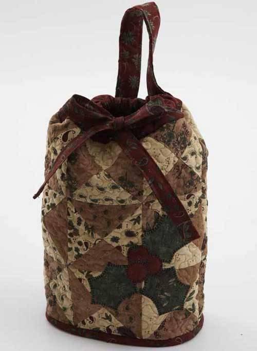Pieced Drawstring Bag - Free Sewing Tutorial
