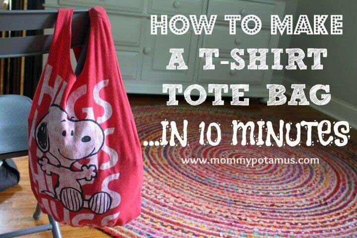 Free Bag Pattern and Tutorial - T-Shirt Tote Bag
